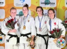Abigel Joo (HUN), Luise Malzahn (GER), Ivana Maranic (CRO), Catherine Roberge (CAN) - IJF Grand Slam Baku (2013, AZE) - © IJF Media Team, International Judo Federation