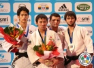 Naohisa Takato (JPN), Jin-Min Jang (KOR), Amiran Papinashvili (GEO), Beslan Mudranov (RUS) - Grand Slam Paris (2013, FRA) - © IJF Media Team, International Judo Federation