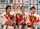 Lucie Louette (FRA), Akari Ogata (JPN), Ruika Sato (JPN), Catherine Roberge (CAN) - Grand Slam Paris (2013, FRA) - © IJF Media Team, International Judo Federation