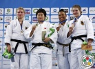 Nami Inamori (JPN), Carolin Weiss (GER), Sibilla Faccholli (BRA), Clarissa Taube (GER) - World Championships Juniors Ljubljana (2013, SLO) - © IJF Media Team, International Judo Federation