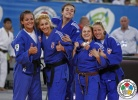 Beata Guszak (CRO), Tena Sikic (CRO), Ana Kokeza (CRO), Barbara Matić (CRO), Maja Blagojevic (CRO) - World Junior Team Championships Ljubljana (2013, SLO) - © IJF Media Team, International Judo Federation