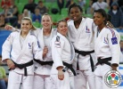 Madeleine Malonga (FRA), Julia Rosso (FRA), Linsay Tsang Sam Moi (FRA), Margaux Pinot (FRA) - World Junior Team Championships Ljubljana (2013, SLO) - © IJF Media Team, International Judo Federation