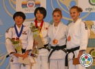Mikoto Tsunemi (JPN), Hye-Kyeong Lee (KOR), Kristina Shilova (RUS), Betina Temelkova (ISR) - Cadet World Championships Miami (2013, USA) - © IJF Media Team, International Judo Federation