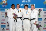 Carolin Weiss (GER), Rebecca Ramanich (FRA), Sarah Adlington (GBR), Nodoka Shiraishi (JPN) - European Open Glasgow (2014, SCO) - © Mike Varey - Elitepix, British Judo Association