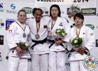 Assmaa Niang (MAR), Sally Conway (GBR), Ye-Sul Hwang (KOR), Chizuru Arai (JPN) - Grand Prix Düsseldorf (2014, GER) - © IJF Media Team, International Judo Federation