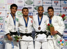 Amiran Papinashvili (GEO), Eric Takabatake (BRA), Ludovic Chammartin (SUI), Ashley McKenzie (GBR) - Grand Prix Havana (2014, CUB) - © IJF Media Team, International Judo Federation