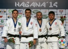 Varlam Liparteliani (GEO), Tiago Camilo (BRA), Kirill Voprosov (RUS), Beka Gviniashvili (GEO) - Grand Prix Havana (2014, CUB) - © IJF Media Team, International Judo Federation