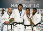 Renat Saidov (RUS), Christopher Sherrington (GBR), Barna Bor (HUN), Oscar Brayson (CUB) - Grand Prix Havana (2014, CUB) - © IJF Media Team, International Judo Federation