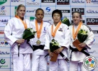 Maryna Cherniak (UKR), Amandine Buchard (FRA), Shira Rishony (ISR), BoKyeong Jeong (KOR) - Grand Prix Jeju (2014, KOR) - © IJF Media Team, International Judo Federation