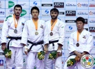 DongHan Gwak (KOR), Mammadali Mehdiyev (AZE), Ramin Gurbanov (AZE), Kyu-Won Lee (KOR) - Grand Prix Jeju (2014, KOR) - © IJF Media Team, International Judo Federation