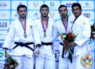 Alexandre Iddir (FRA), Kirill Denisov (RUS), Walter Facente (ITA), Hatem Abd el Akher (EGY) - Grand Prix Tashkent (2014, UZB) - © IJF Media Team, International Judo Federation