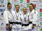 Kelita Zupancic (CAN), Katarzyna Klys (POL), Barbara Matić (CRO), Maria Portela (BRA) - Grand Prix Zagreb (2014, CRO) - © IJF Media Team, International Judo Federation