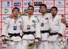 Orkhan Safarov (AZE), Amartuvshin Dashdavaa (MGL), Kherlen Ganbold (MGL), Ilgar Mushkiyev (AZE) - Grand Slam Abu Dhabi (2014, UAE) - © IJF Media Team, International Judo Federation