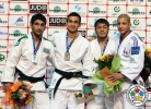 Orkhan Safarov (AZE), Vugar Shirinli (AZE), Sharafuddin Lutfillaev (UZB), Sofiane Milous (FRA) - Grand Slam Baku (2014, AZE) - © IJF Media Team, International Judo Federation