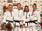 Kim Polling (NED), Sally Conway (GBR), Katarzyna Klys (POL), Heide Wollert (GER) - Grand Slam Baku (2014, AZE) - © IJF Media Team, International Judo Federation