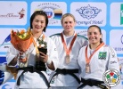 Naranjargal Tsend-Ayush (MGL), Esther Stam (NED), Maria Portela (BRA) - Grand Prix Ulaanbaatar (2014, MGL) - © IJF Media Team, International Judo Federation