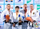 Tagir Khaibulaev (RUS), Karl-Richard Frey (GER), Flavio Orlik (SUI), Dimitri Peters (GER) - Grand Prix Ulaanbaatar (2014, MGL) - © IJF Media Team, International Judo Federation