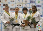 Amandine Buchard (FRA), Larisa Florian (AZE), Astride Gneto (FRA), Mako Uchio (JPN) - World Championships Juniors Fort Lauderdale (2014, USA) - © IJF Media Team, International Judo Federation