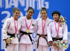 Layana Colman (BRA), Betina Temelkova (ISR), Hye-Kyeong Lee (KOR), Marusa Stangar (SLO) - Youth Olympic Games Nanjing (2014, CHN) - © IJF Media Team, International Judo Federation