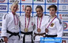 Andrea Bekic (CRO), Tena Sikic (CRO), Nieke Nordmeyer (GER), Marica Perisic (SRB) - European Cup Belgrade (2015, SRB) - © JudoInside.com, judo news, results and photos