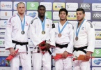 Célio Dias (POR), Romain Buffet (FRA), Asley Gonzalez (CUB), Li Kochman (ISR) - Grand Prix Budapest (2015, HUN) - © JudoInside.com, judo news, results and photos