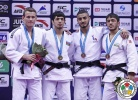 Jeroen Mooren (NED), Sharafuddin Lutfillaev (UZB), Ilgar Mushkiyev (AZE), Walide Khyar (FRA) - Grand Prix Qingdao (2015, CHN) - © IJF Media Team, International Judo Federation
