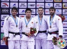 Kenta Nagasawa (JPN), Asley Gonzalez (CUB), Alexandre Iddir (FRA), Ramin Gurbanov (AZE) - Grand Prix Qingdao (2015, CHN) - © IJF Media Team, International Judo Federation