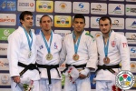 Loïc Pietri (FRA), Sergiu Toma (UAE), Ushangi Margiani (GEO), Saeid Mollaei (IRI) - Grand Prix Samsun (2015, TUR) - © IJF Media Team, International Judo Federation