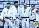 Kenta Nishigata (JPN), Temuulen Battulga (MGL), Daniel Allerstorfer (AUT), Andre Breitbarth (GER) - Grand Prix Tashkent (2015, UZB) - © IJF Gabriela Sabau, International Judo Federation
