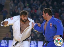 Adam Okruashvili (GEO), Levani Matiashvili (GEO) - Grand Prix Tbilisi (2015, GEO) - © IJF Media Team, International Judo Federation