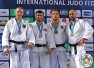 Elmar Gasimov (AZE), Dimitri Peters (GER), Jevgenijs Borodavko (LAT), Karl-Richard Frey (GER) - Grand Prix Tbilisi (2015, GEO) - © IJF Media Team, International Judo Federation