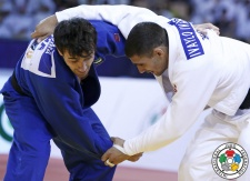 Ivaylo Ivanov (BUL), Sergiu Toma (UAE) - Grand Slam Abu Dhabi (2015, UAE) - © IJF Media Team, International Judo Federation