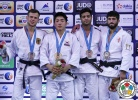 Chang-Rim An (KOR), Igor Wandtke (GER), Sagi Muki (ISR), Lasha Shavdatuashvili (GEO) - Grand Slam Abu Dhabi (2015, UAE) - © IJF Media Team, International Judo Federation