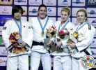 Guusje Steenhuis (NED), Akari Ogata (JPN), Daria Pogorzelec (POL), Kayla Harrison (USA) - Grand Slam Baku (2015, AZE) - © IJF Media Team, International Judo Federation