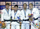 Mashu Baker (JPN), Noël Van 't End (NED), Walter Facente (ITA), Joakim Dvärby (SWE) - Grand Slam Baku (2015, AZE) - © IJF Media Team, International Judo Federation