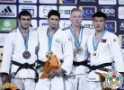 Shakhzodbek Sabirov (UZB), Sergey Ryabov (RUS), Uuganbaatar Otgonbaatar (MGL), Frank De Wit (NED) - Grand Slam Paris (2015, FRA) - © IJF Media Team, International Judo Federation