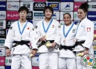 Chizuru Arai (JPN), Yoko Ono (JPN), Linda Bolder (NED), Maria Portela (BRA) - Grand Slam Tokyo (2015, JPN) - © IJF Media Team, International Judo Federation