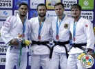 Uali Kurzhev (RUS), Guillaume Chaine (FRA), Musa Mogushkov (RUS), Igor Wandtke (GER) - Grand Slam Tyumen (2015, RUS) - © IJF Media Team, International Judo Federation