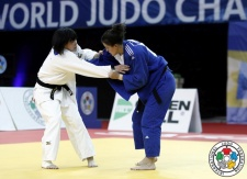 Suzuka Takaku (JPN), Jovana Pekovic (MNE) - Cadet World Championships Sarajevo (2015, BIH) - © IJF Media Team, International Judo Federation