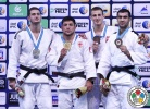Beka Gviniashvili (GEO), Nikoloz Sherazadishvili (ESP), Firudin Dadashov (AZE), Piotr Kuczera (POL) - World Championships Juniors Abu Dhabi (2015, UAE) - © IJF Media Team, International Judo Federation