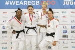 Jemima Yeats-Brown (GBR), Ebony Drysdale Daley (JAM), Kelly Petersen (GBR), Shelley Ludford (GBR) - British Championships Sheffield (2016, GBR) - © British Judo Association