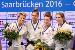 Larisa Florian (AZE), Laura Holtzinger (FRA), Verena Thumm (GER), Kelly Edwards (GBR) - European Cup Saarbrucken (2016, GER) - © Klaus Müller, Watch: https://km-pics.de/