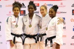 Marie Eve Gahié (FRA), Melissa Heleine (FRA), Lucie Perrot (FRA), Clarisse Habricot (FRA) - French Championships Montbeliard (2016, FRA) - © French Judo Federation / FFJudo
