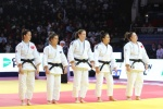 Merve Tas (TUR), Majlinda Kelmendi (KOS), Kathrin Unterwurzacher (AUT), Sükran Bakacak (TUR), Kubra Kara (TUR) - Golden League women Grozny (2016, RUS) - © Emir Incegul, Turkish Judo Federation