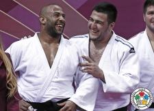 Iakiv Khammo (UKR), Roy Meyer (NED) - Grand Slam Baku (2016, AZE) - © IJF Gabriela Sabau, International Judo Federation