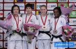 SeongYeon Kim (KOR), Haruka Tachimoto (JPN), Sally Conway (GBR), Gévrise Emane (FRA) - Grand Slam Paris (2016, FRA) - © JudoInside.com, judo news, photos, videos and results