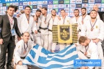 Eleftherios Marios Panagiotou (GRE), Georgios Azoidis (GRE), Athanasios Milonelis (GRE), Serafeim Tsimpikakis (GRE), David Tsokouris (GRE), Nikos Moulatze (GRE), Ushangi Margiani (GEO), David Karaklidis (GRE), Georgios Malliaropoulos (GRE) - European Club Championships Wuppertal men  (2017, GER) - © JudoInside.com, judo news, results and photos