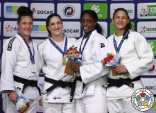 Mayra Aguiar (BRA), Natalie Powell (GBR), Kaliema Antomarchi (CUB), Karen Leon (VEN) - Grand Prix Cancun (2017, MEX) - © IJF Media Team, International Judo Federation