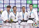 Vugar Shirinli (AZE), Islam Yashuev (RUS), Sharafuddin Lutfillaev (UZB), Abylaikhan Sharatov (KAZ) - Grand Prix Tashkent (2017, UZB) - © IJF Media Team, International Judo Federation