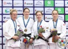Kathrin Unterwurzacher (AUT), Hannah Martin (USA), Catherine Beauchemin-Pinard (CAN), Ekaterina Valkova (RUS) - Grand Prix Tashkent (2017, UZB) - © IJF Media Team, International Judo Federation